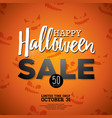 hallowen sale with holiday elements on orange vector image