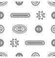 seamlessbacteria and viruses pattern vector image