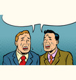 two men friends crying vector image