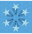 blue stars perspective vector image vector image