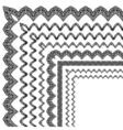 ornamental border with corner vector image