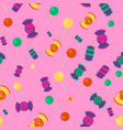 Candy and lollipop seamless pattern vector image