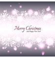 Christmas Star Snowflake Background vector image