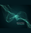 Dynamic particles array 3d abstract music wave vector image