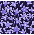 Seamless background with bellflowers vector image