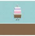 cute cupcake card vector image