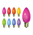 holiday colored light bulbs vector image