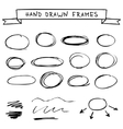 Set of hand drawn frames vector image