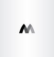 m letter black symbol m sign vector image
