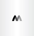 m letter black symbol m sign vector image