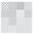big set seamless marine pattern vector image