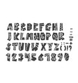 grunge full alphabet and numerals vector image