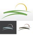 sunrise symbol design vector image