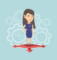 Young caucasian woman choosing career way vector image