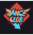 Dance Club Graffiti Aesthetic Signboard Design vector image
