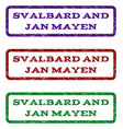 svalbard and jan mayen watermark stamp vector image