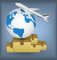 airline transport for shipping around the world vector image
