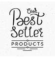 Best seller handwritten script vector image