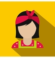 Housewife with a red bow on her head flat vector image