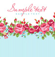 Greeting card with red rose vector image
