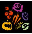 simple vegetable set vector image vector image