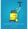 Flat vacuum cleaner icon with long shadows vector image