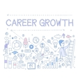 Career Growth Infographics vector image