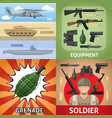 colorful military square concept vector image