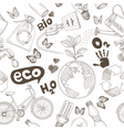 Ecology doodles icons seamless vector image