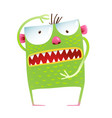 green monster frog showing size kids cartoon vector image