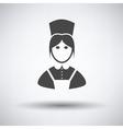 Hotel maid icon vector image