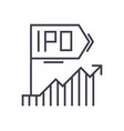 ipo line icon sign on vector image