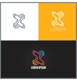 Letter X logo alphabet design icon background vector image