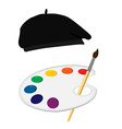 Painter symbol vector image
