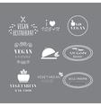 Set of labels company vegan vegetarian healthy vector image