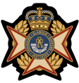 emblem badge shield vector image vector image
