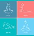 yoga icon linear set vector image
