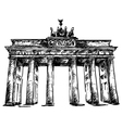 Brandenburg Gate sketch vector image