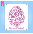 Easter flowers egg background vector image