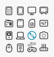 Different techno icons set vector image vector image