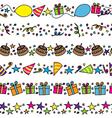Birthday party borders vector image