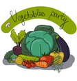 Cartoon vegetables vector image