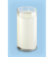 Glass of milk object on blue background vector image