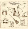 halloween hand drawn design vector image