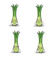 leek character cartoon set collection vector image