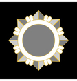 Medal award icon Silver star vector image