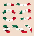 ribbons or banners in colors of mexican flag vector image