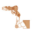 robot arm set vector image