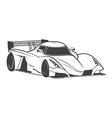 White sport car vector image