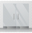 Mall store glass doors vector image